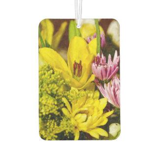 絵画的な陽気な花束 カーエアーフレッシュナー