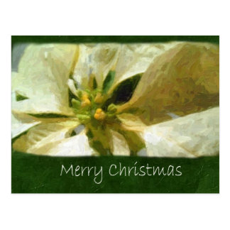 絵画的な黄色いポインセチア1 -メリークリスマス ポストカード