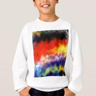 絵筆の打撃は虹の金属板Rを抽出します スウェットシャツ