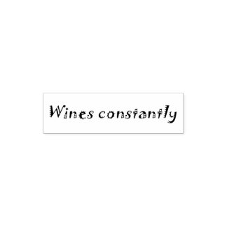 絶えずワインの冗談の引用文のユーモアのオフィスのスタンプ ポケットスタンプ
