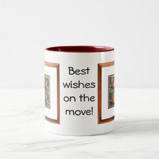 絶えず動いた幸運を祈ります ツートーンマグカップ