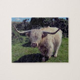 絶えず動いたDartmoorの高地牛 ジグソーパズル