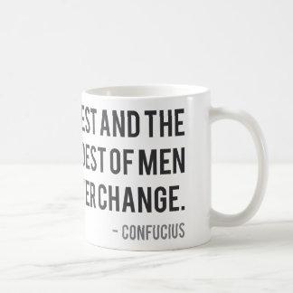 絶えず変化している人について言っている孔子 コーヒーマグカップ