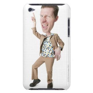 絶望的なコーカサス地方の人の写真の風刺漫画 Case-Mate iPod TOUCH ケース