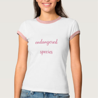 絶滅危ぐ種 Tシャツ