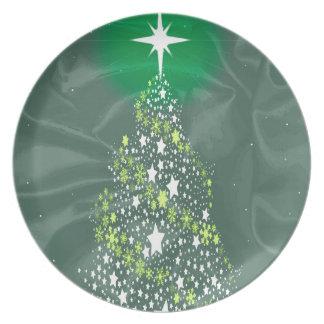絹のクリスマスツリー プレート
