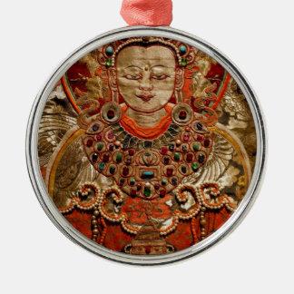 絹のチベットTHANGKAの芸術作品 メタルオーナメント