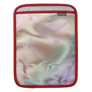 絹のピンクのハート iPadスリーブ