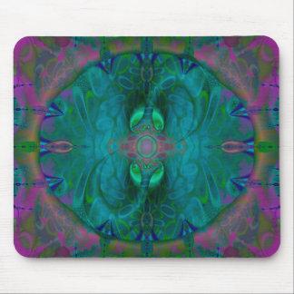 絹の入口のサイケデリックな抽象芸術 マウスパッド