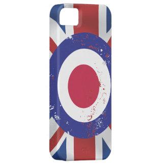 絹の効果の英国国旗の風化させたモダンなターゲット iPhone SE/5/5s ケース