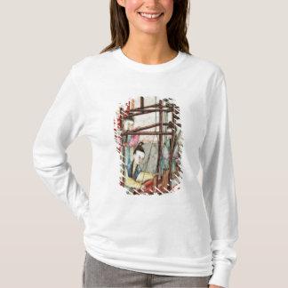絹の編むことを描写するつぼからの詳細 Tシャツ