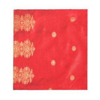 絹の複雑なインディアンZARIの芸術 ノートパッド