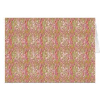絹の輝きの波パターン: 低価格の芸術的なおもしろい グリーティングカード