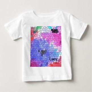 絹の© P Wherrellのステンドグラスのモザイクアネモネ ベビーTシャツ