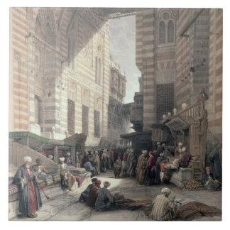"""絹商人のバザー、""""エジプトaからのカイロ、 タイル"""
