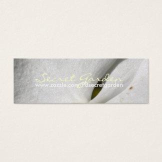 絹(2)の-白い蘭-名刺 スキニー名刺