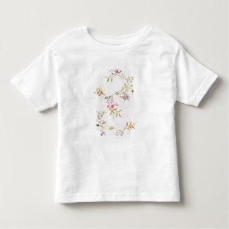 絹mのためのカーネーションそしてバラの花柄 トドラーTシャツ