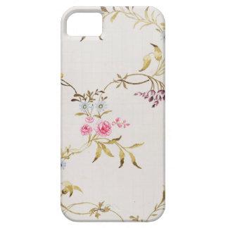 絹mのためのカーネーションそしてバラの花柄 iPhone 5 カバー
