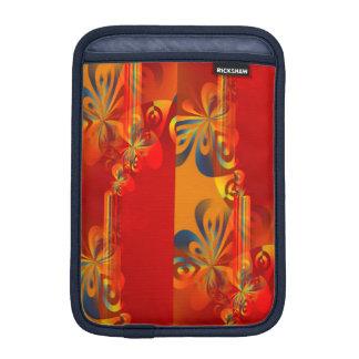 継ぎ目が無いグラフィック・デザイン-赤いオレンジI iPad MINIスリーブ