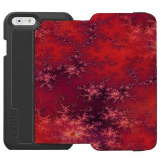 継ぎ目が無いフラクタルの赤 INCIPIO WATSON™ iPhone 5 財布型ケース