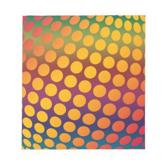 継ぎ目が無く明るい背景。 装飾的な幾何学的 ノートパッド