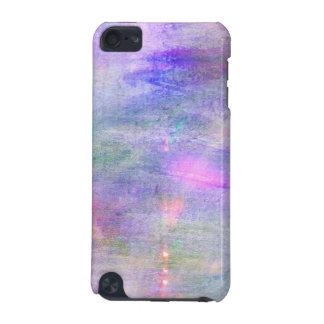継ぎ目が無く青い、ピンクの背景の黄色の水彩画 iPod TOUCH 5G ケース
