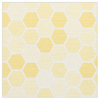 継ぎ目が無く黄色い蜂蜜の櫛パターン ファブリック