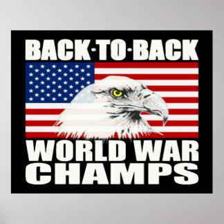 続けて世界大戦は大きいワシポスターを-むしゃむしゃ食べます ポスター
