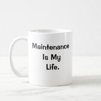 維持はやる気を起こさせるなスローガンが2味方した私の生命です コーヒーマグカップ
