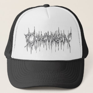 網のトラック運転手の帽子-死の金属 キャップ