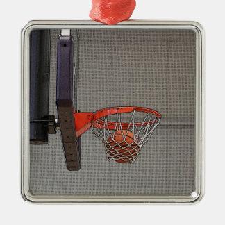 網のバスケットボール メタルオーナメント
