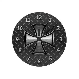 網のマルチーズ ラウンド壁時計