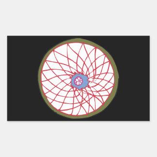 網の底 長方形シール