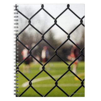 網の選択的な焦点 ノートブック