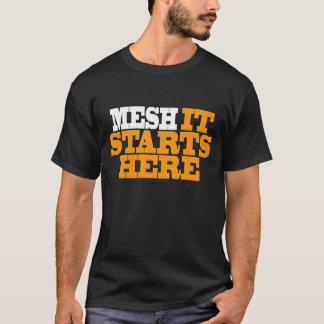 網: それはここに始まります Tシャツ