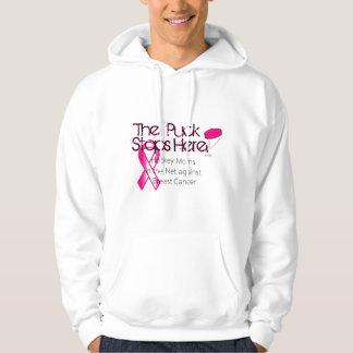 網-乳癌のフード付きスウェットシャツのホッケーのお母さん パーカ
