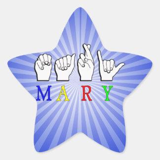 綴られるメリーASL指 星シール