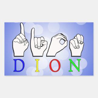 綴られるDION ASL指 長方形シール