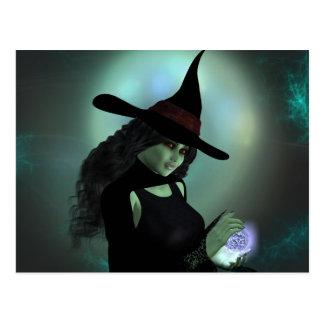 綴りを投げている悪賢い魔法使い ポストカード
