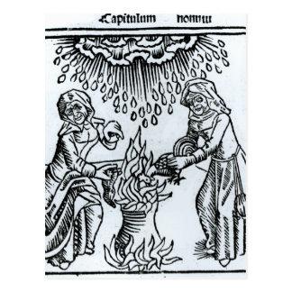 綴り1489年を作っている魔法使い ポストカード