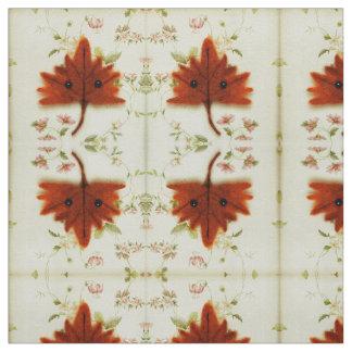 綿のあや織りの生地のかわいいの秋の葉の花柄 ファブリック
