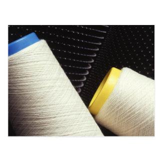 綿の糸のコイル ポストカード