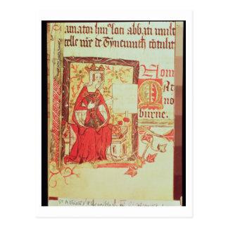 綿のNero D VIIIのa.c.を保持しているfol.7女王Matilda ポストカード