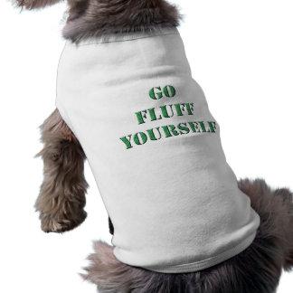 綿毛あなた自身犬のワイシャツは行きます ペット服