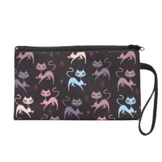 綿毛によるかわいい意気揚々と歩く猫のリストレットのバッグ リストレット