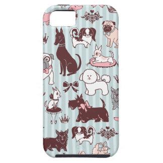 綿毛による小犬の私室のIphoneの場合 iPhone SE/5/5s ケース