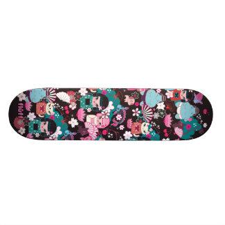 綿毛による着物のかわいこちゃんのかわいいのスケートボード 21.6CM スケートボードデッキ