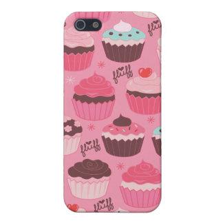 綿毛によるIphone 4のカップケーキの箱 iPhone 5 ケース