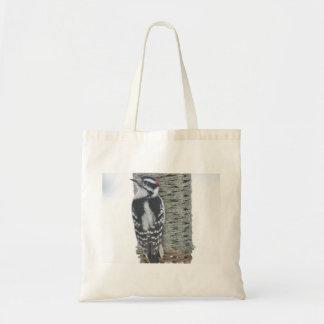 綿毛のようなキツツキの写真撮影 トートバッグ
