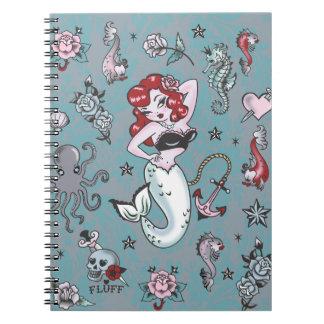綿毛のモーリーの人魚のノート ノートブック